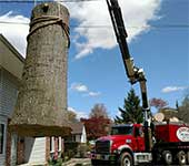 Even the largest trees near homes, power lines, and other obstacles can be safely removed because of our equipment