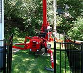 Yes, our turf friendly spiderlift did go through that standard size gate